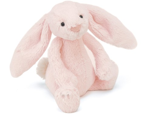 Jellycat peluche Bashful Rose Lapin Rattle 18cm