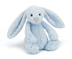 Jellycat Peluche Bashful Bleu Lapin Medium 31cm