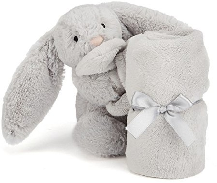 Jellycat - Doudou Bashful Silver Lapin Soother-2