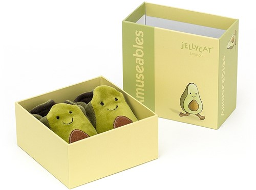 Jellycat Amuseable Avocat Chaussons - 10cm