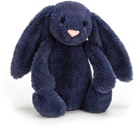 Jellycat Peluche Bashful Navy Lapin Medium - 31cm