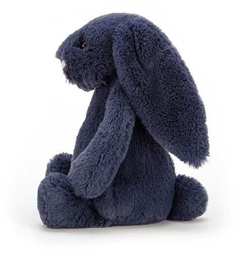 Jellycat Peluche Bashful Navy Lapin Medium - 31cm-2