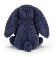 Jellycat Peluche Bashful Navy Lapin Medium - 31cm-3