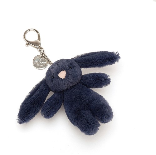 Jellycat Bashful Charmant sac Lapin Navy - 8cm