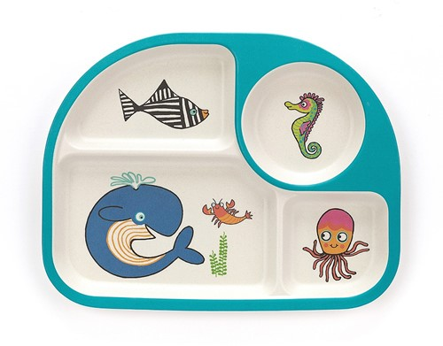 Jellycat Sea Tails Bamboo Divided Plate - 26cm