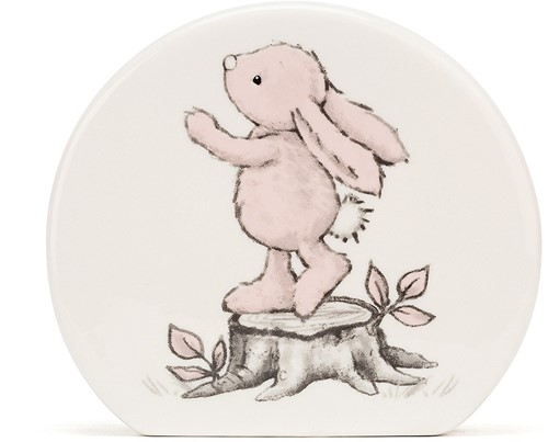 Jellycat Bashful Rose Lapin Tirelire - 12cm