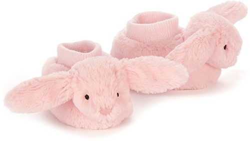 Jellycat Bashful Rose Lapin Chaussons - 10cm