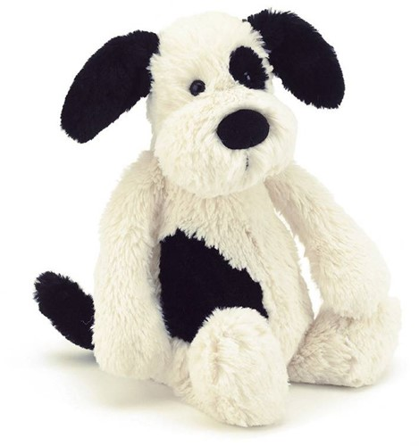 Jellycat  Bashful Black and Cream Chiot petit - 18 cm