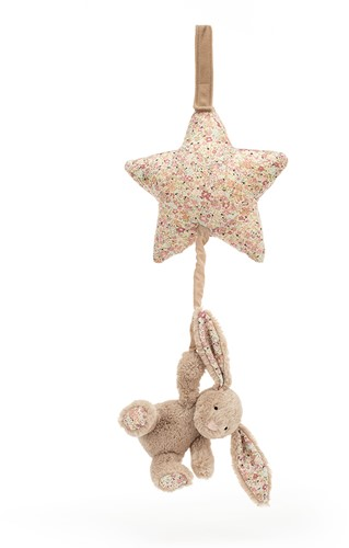 Jellycat Blossom Bea Beige Bunny Musical Pull - 28cm