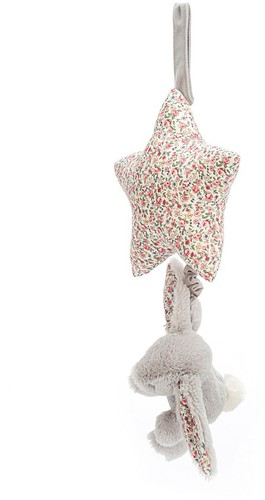 Jellycat Blossom Silver Lapin Musicael Tirer - 28cm-2