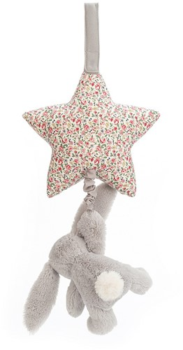 Jellycat Blossom Silver Lapin Musicael Tirer - 28cm-3