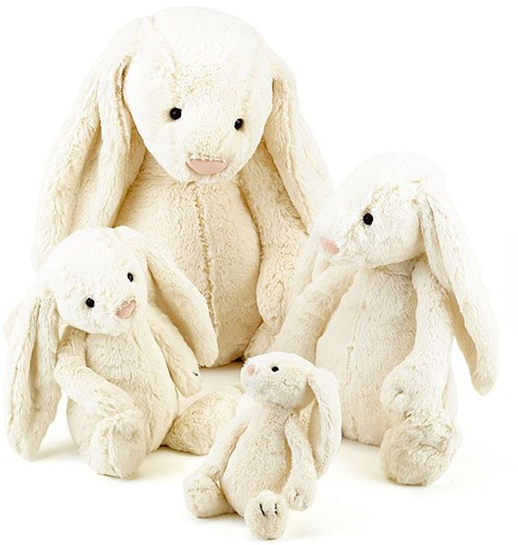 Jellycat  Bashful Cream Lapin grand - 36 cm-2
