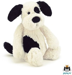 Jellycat  Bashful Chiot black and cream medium - 31cm