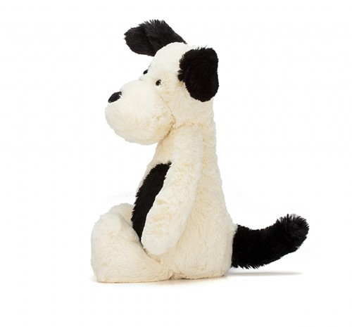 Jellycat  Bashful Black and Cream Chiot petit - 18 cm-2