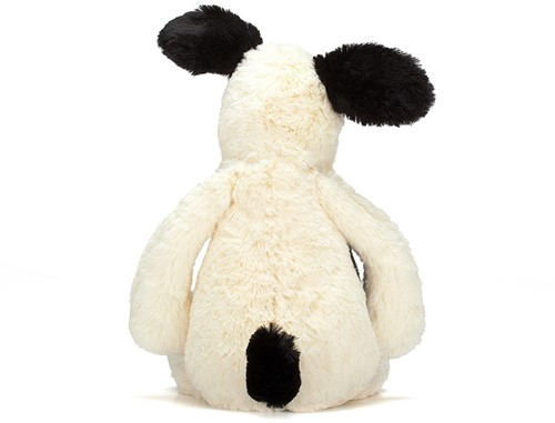 Jellycat  Bashful Black and Cream Chiot petit - 18 cm-3