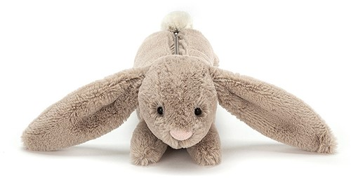 Jellycat Bashful Lapin  Beige sac long-2