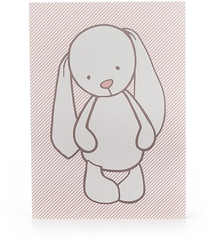 Jellycat Bashful Lapin Rose rayures Livret de Notes A6