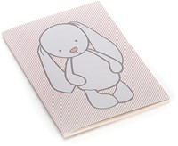Jellycat Bashful Lapin Rose rayures Livret de Notes A6-2