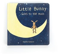 Jellycat Little Bunny Goes to the Moon Book - 19cm
