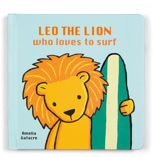 Jellycat Leo The Lion Who Loves to Surf Book - 17cm