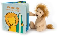 Jellycat Leo The Lion Who Loves to Surf Book - 17cm-2