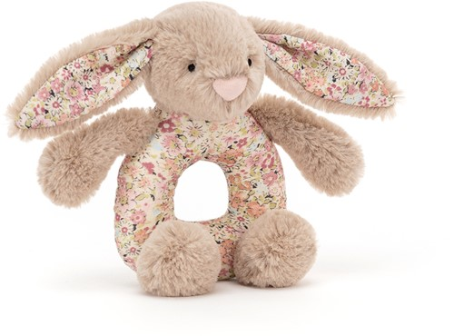 Jellycat Blossom Bea Beige Bunny Grabber - 13x8cm