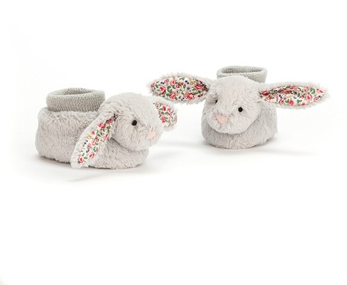 Jellycat Blossom Silver lapin Chaussons - 13cm