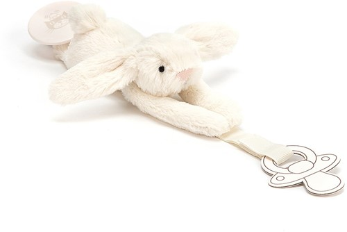 Jellycat Bashful Cream Dummy Holder - 19cm-2