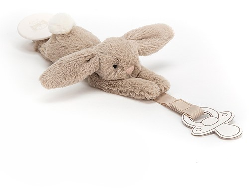 Jellycat Bashful Beige Dummy Holder - 19cm-2