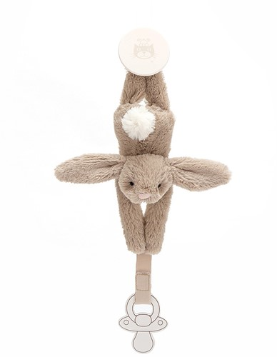 Jellycat Bashful Beige Dummy Holder - 19cm