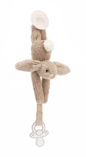Jellycat Bashful Beige Dummy Holder - 19cm-3