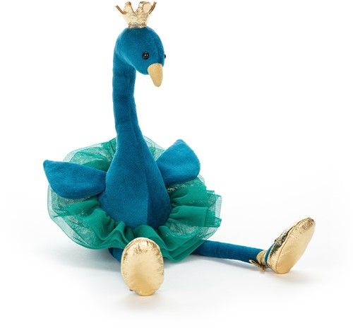 Jellycat peluche Chic Peacock grand - 55cm