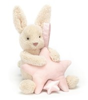 Jellycat Etoile Lapin Rose musicale tirer - 23cm