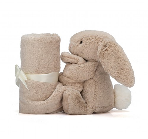 Jellycat Bashful Doudou Beige Lapin Soother - 33 cm-3