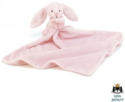 Jellycat Bashful Doudou Rose Lapin Soother - 33 cm