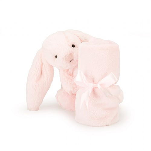 Jellycat Bashful Doudou Rose Lapin Soother - 33 cm-3